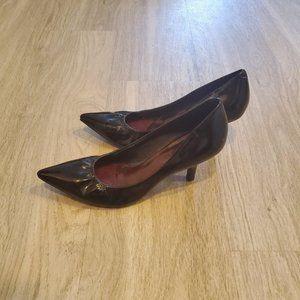 Black Jessica Simpson Pointed Toe Kitten Heels